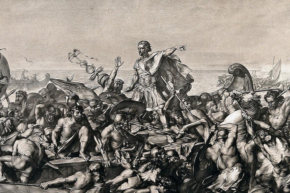 Julius Caesar i strid.