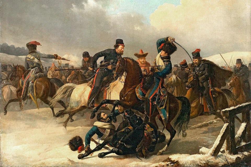 kosacker anfaller napoleons arme 1812