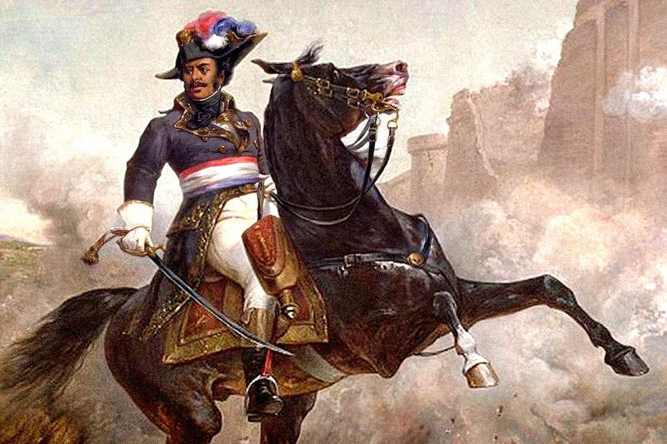 Thomas-Alexandre Dumas, general i Napoleons armé, till häst.