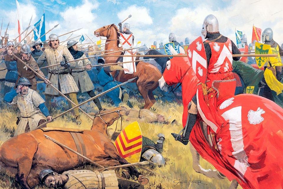Slaget om Bannockburn 1314. Robert Bruce mot Edvard II.