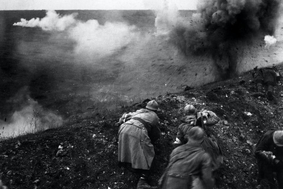 Slaget vid Verdun 1916, franska trupper.