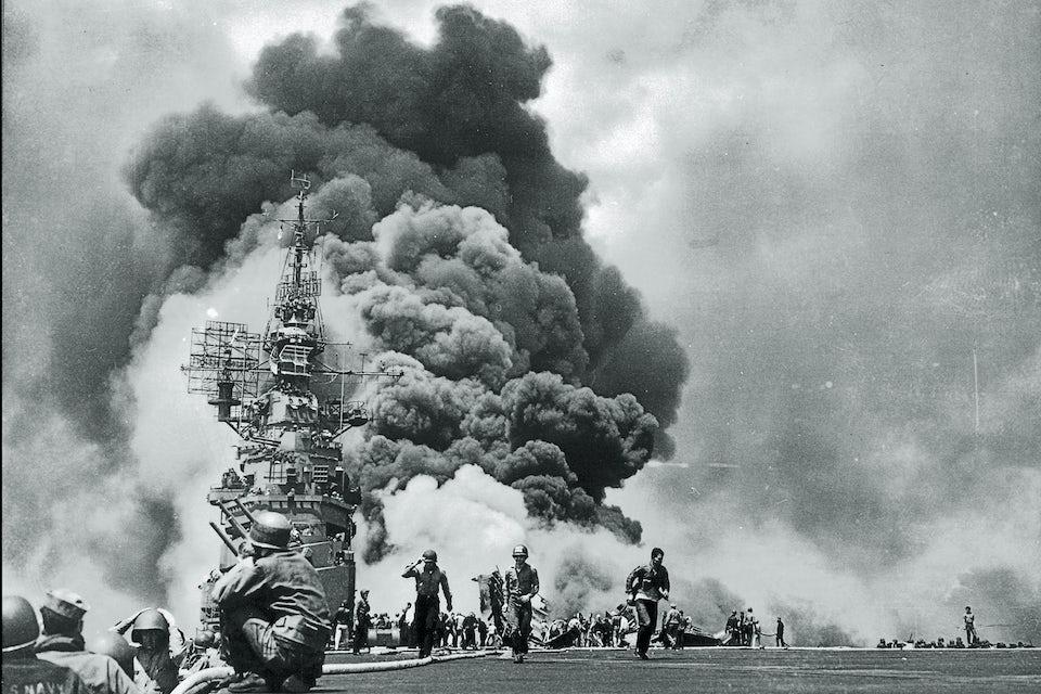 Kamikaze, Japan, USA, USS Bunker, 11 maj 1945, andra världskriget