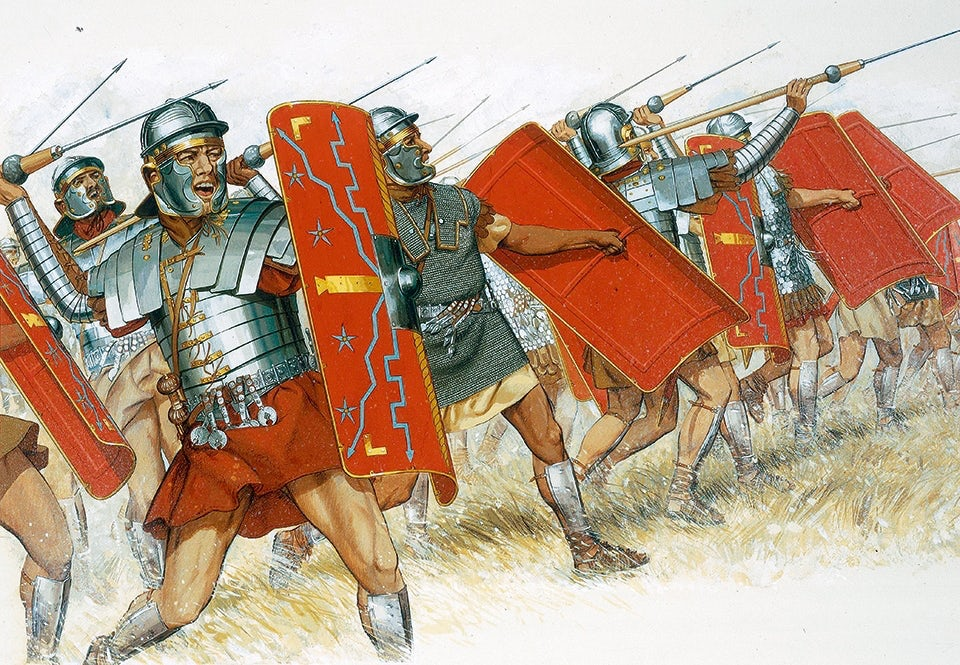 romersk legion anfall spjut